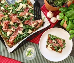 Low Carb Prosciutto Pizza_Top