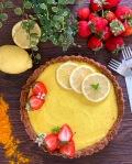 vegane Zitronentarte lowcarb
